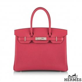 Hermès Birkin 30 Rose Extreme Epsom PHW